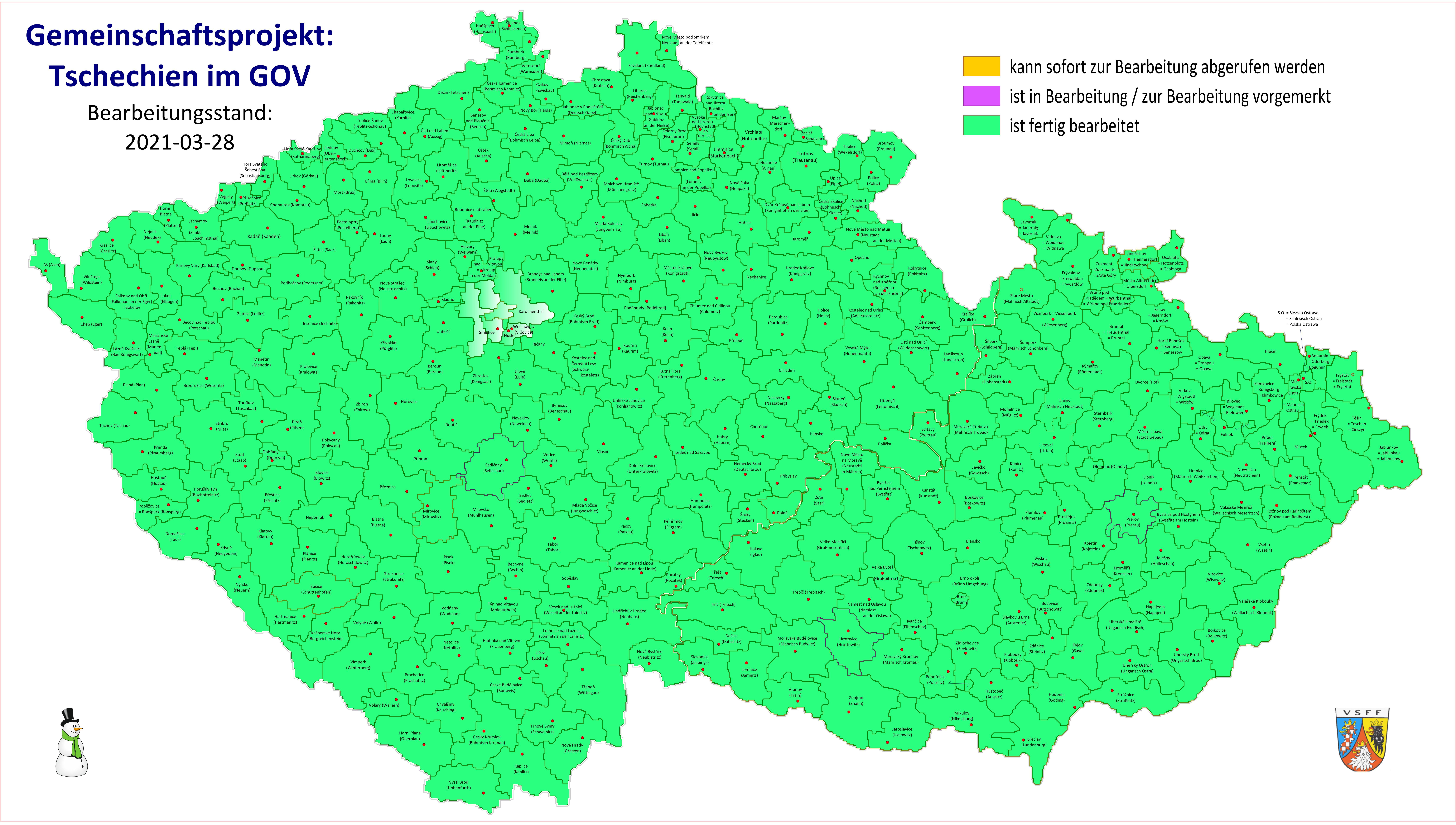 """VSFF-Mitmachprojekt """"Tschechien im GOV"""" erfolgreich beendet"""